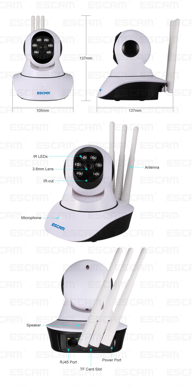 3 Antena IP WIFI Camera